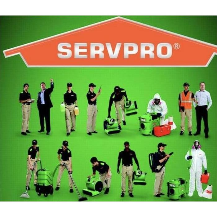 SERVPRO technicians with equipment