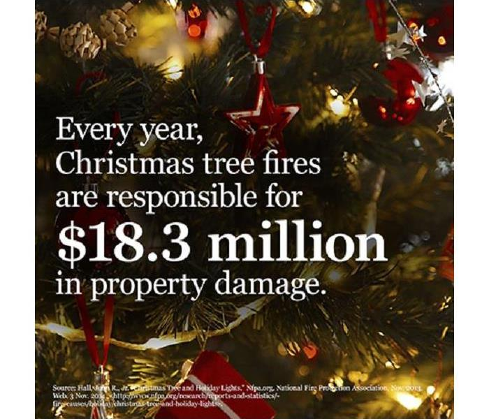 Fire Damage Christmas Tree Fire Safety Precautions