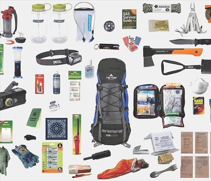 photo of disaster kit items